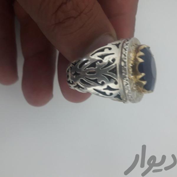 انگشتر نقره رکاب دست ساز سنگ اصلی|جواهرات|رشت|دیوار