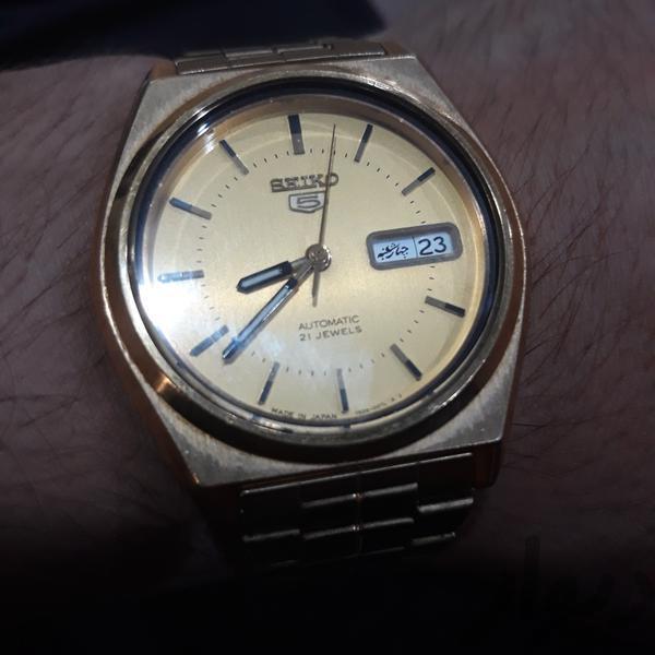 ساعت سیکو5 کلکسیونی روکش طلا ضربانی|ساعت|دزفول|دیوار