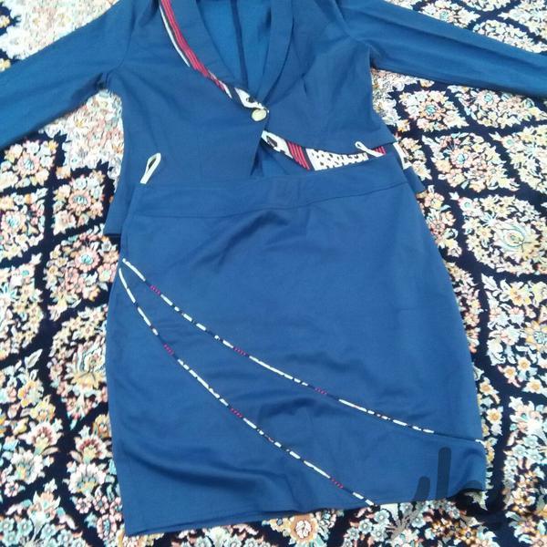 کت و دامن سرمه ای لباس دورود دیوار