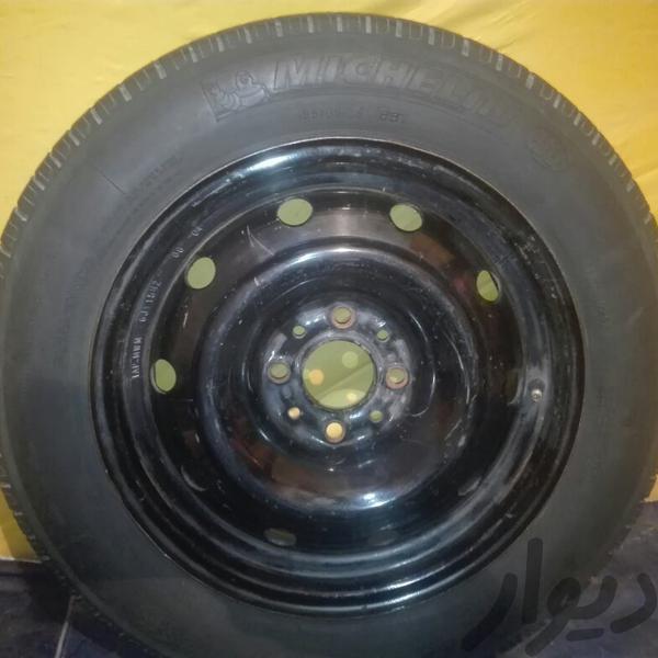 یک حلقه لاستیک بدون رینگ زاپاس میشلن اصل زانتیا|قطعات یدکی و لوازم جانبی خودرو|آبادان|دیوار