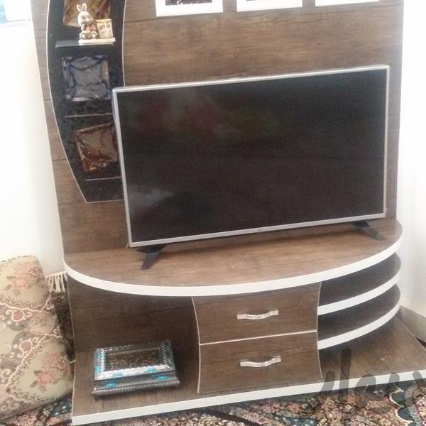 زیرتلویزیون ام دی اف|میز تلویزیون و وسایل سیستم پخش|ایلام|دیوار