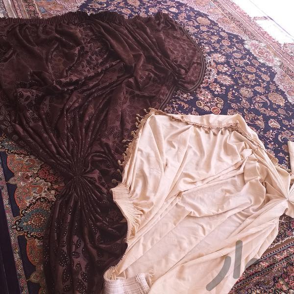 یالان کرم قهوهای زیبا نو به فروش میرسه|پرده و رومیزی|ایلام|دیوار