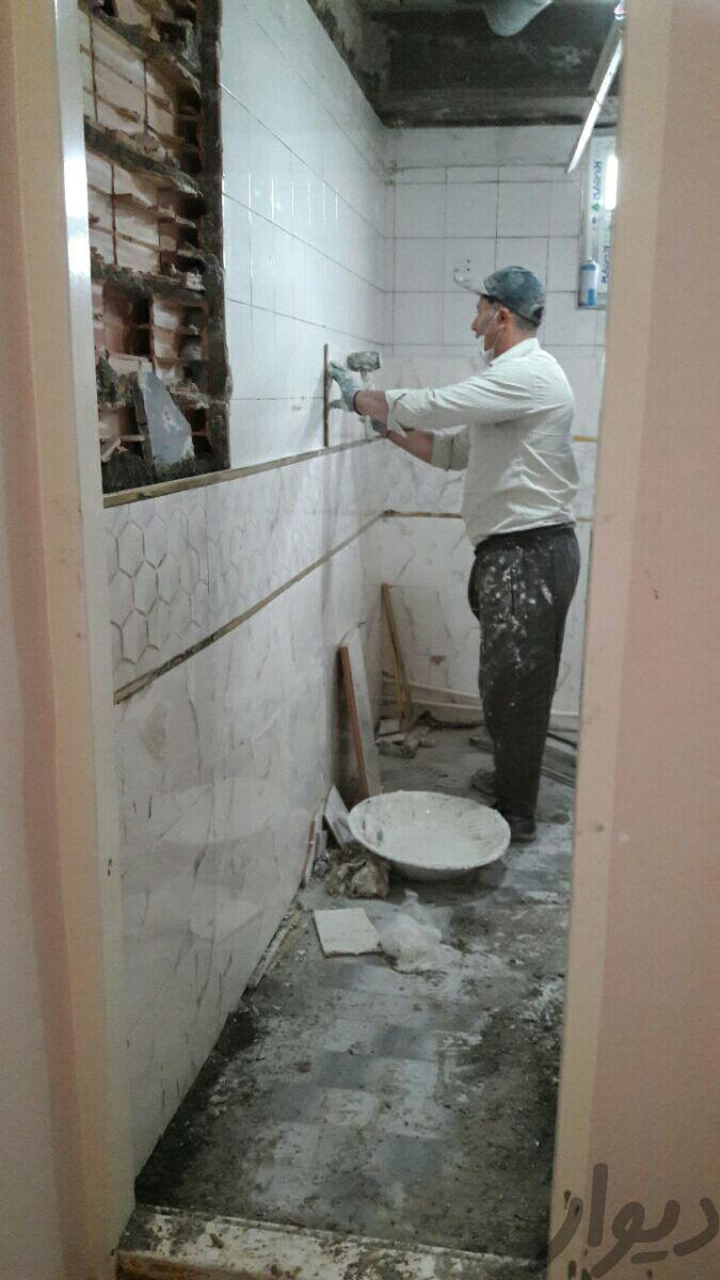 کاشی کاری کاشیکاری سرامیک کاری باچسب ...|پیشه و مهارت|تبریز|دیوار